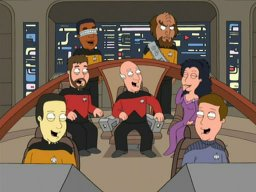 ST: TNG cast on Family Guy