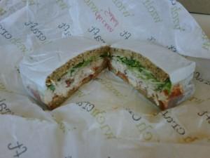 What an overpriced $10 chicken salad sandwich looks like