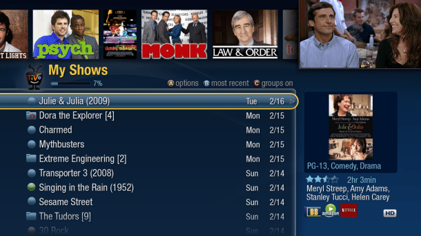 The new TiVo Premiere interface