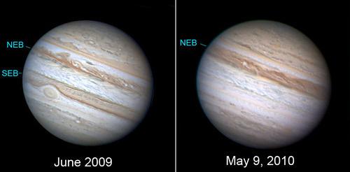 Jupiter loses a stripe