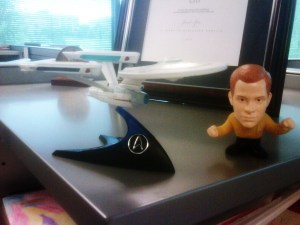 The Enterprise now adorns my lowly cubicle.