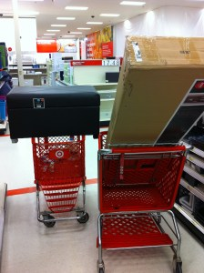 Our two carts loaded up