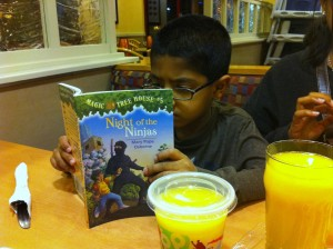 Joshua loves his books