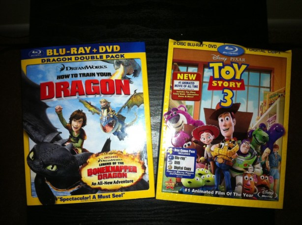 New movies -- Dragon, Toy Story 3