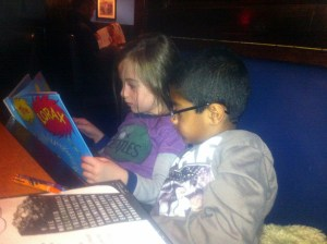 Josh & Kaiya reading The Lorax before watching The Lorax