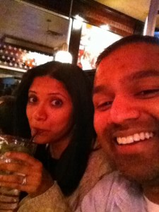 My lady friend and I chilling at TGI Friday's before we see The Lorax