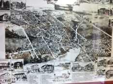 A pencil drawing of old Hightstown NJ of how it looked in 1895.