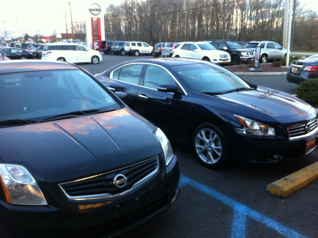 Comparison between the Sentra and Maxima.