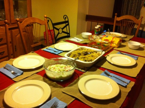 Christmas Eve dinner with the Davids