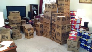 That's a whole lotta popcorn in our living room