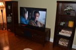 Moved the previous TV stand back upstairs to the family room