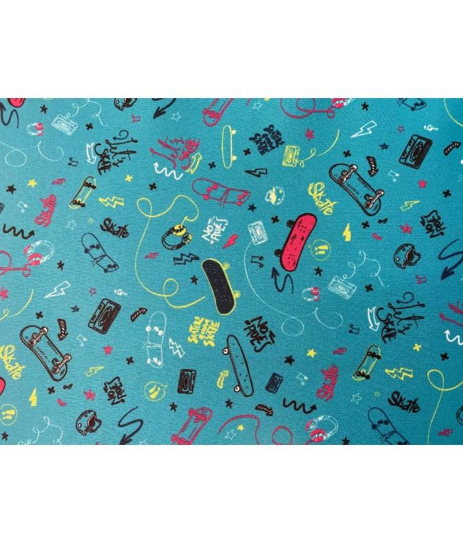 tissu pul couleur bleu skate en 150cm de large impermeable respirant joelle tissu oeko tex