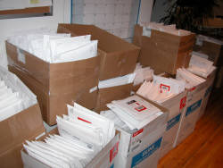 Picture of DVDs ready to ship