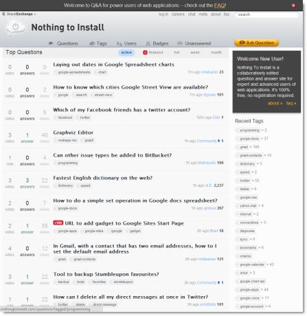 Nothing to Install screenshot