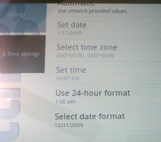 default date and time