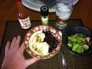 4 hour body lunch Chicken beans and vegies.