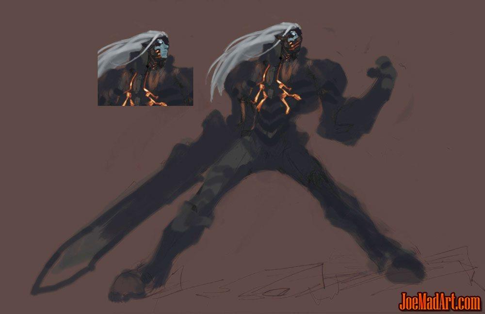 Darksiders Rejected Concept War Blue Skin