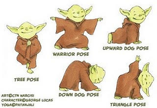 Yoda doing Yoga, your mind is blown
