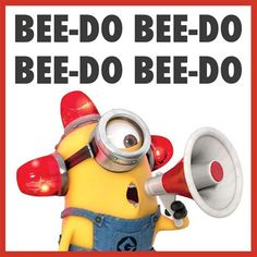 Minion-sounding-alarm