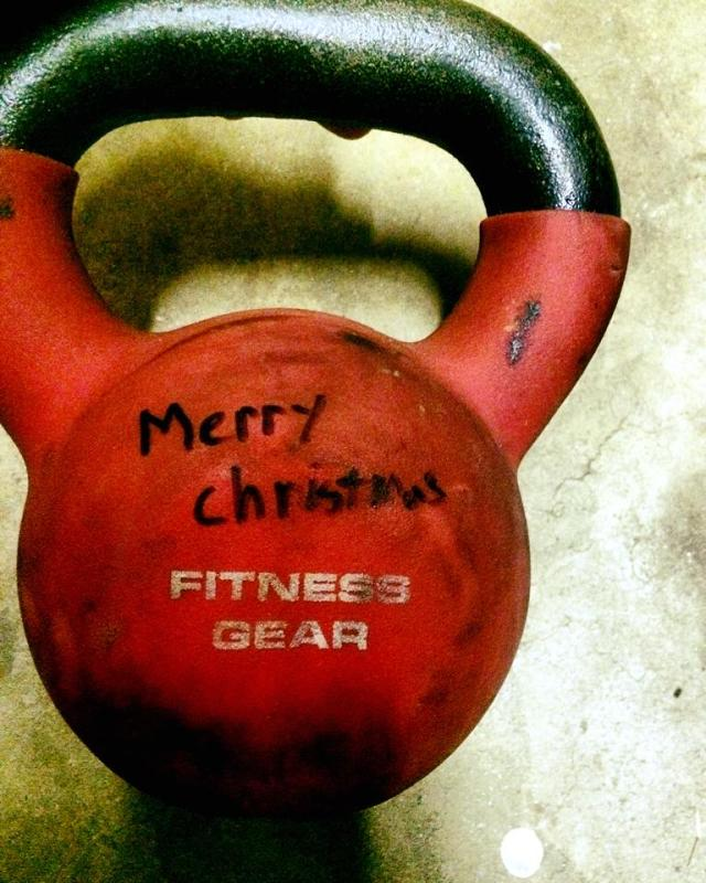 Don't worry our red kettlebells still say Merry Christmas!