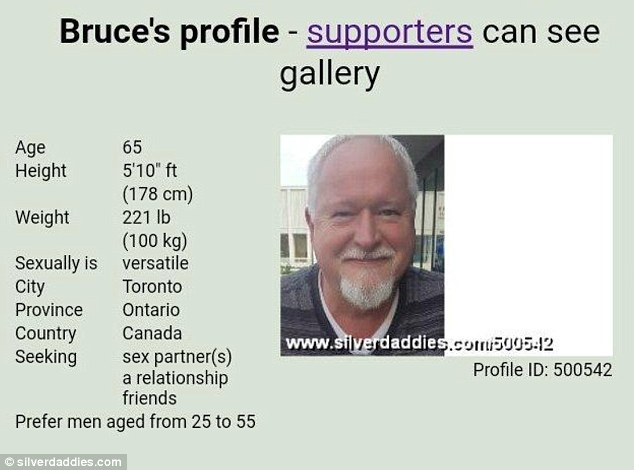 Mcarthur Had A Profile Seeking Sexual Encounters On Silverdaddies Com A Dating And Sex Site For Older Men And Their Admirers
