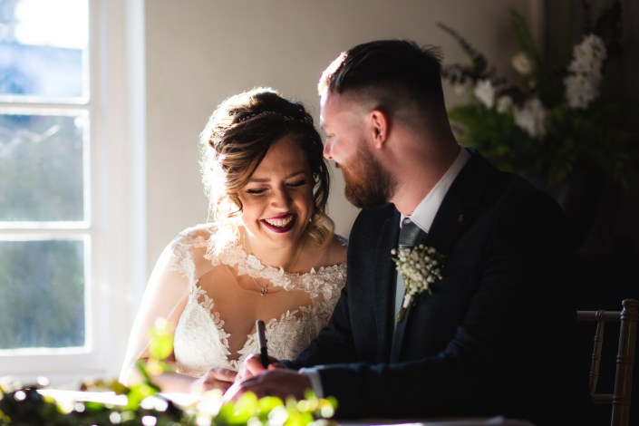 Signing of the register - Manchester Wedding Photographer