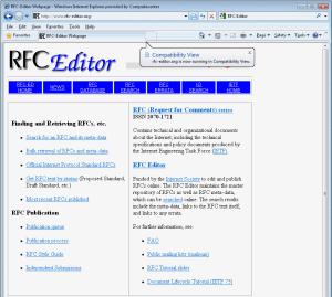 Eine gute Informationsquelle ist der RFC-Editor