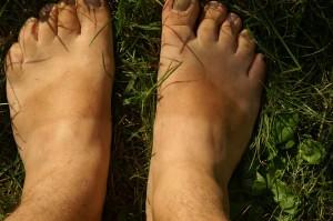 Sandalenfüße