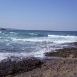 Felsen am Strand von Losenez