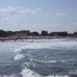 Wellen am Strand von Losenez