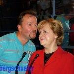 Ein Küsschen für Angela Merkel