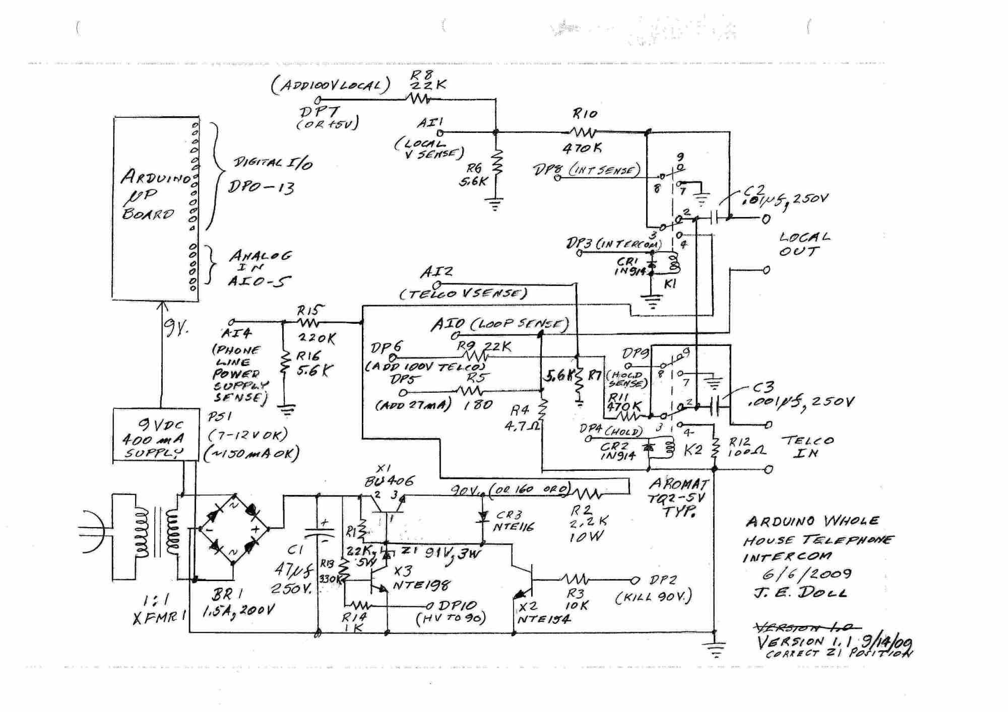 hight resolution of schematic circuit diagram intercom pdf wiring diagram expert telephone intercom wiring diagram