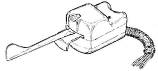 Turn Signal Switch, Chrome Housing, U-13340-12V-C. Joe's