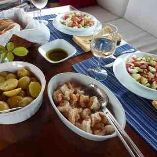Shrimp with Baby Potatoes in Vinaigrette