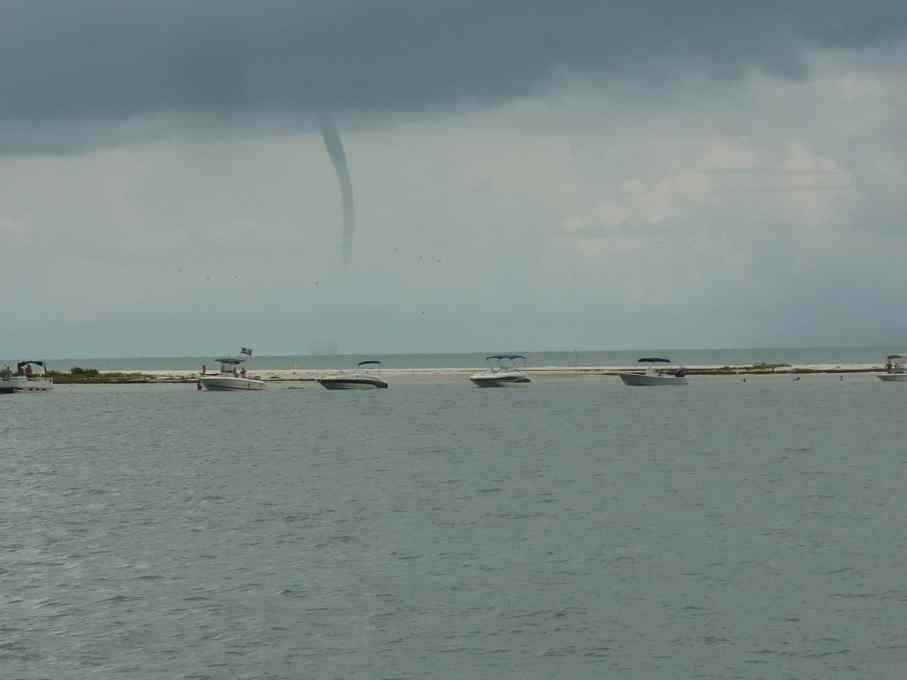 Water spout near St. Joseph sound, Florida.   joeshealthymeals.com