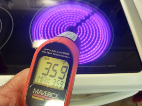 Temperature reading of heating element