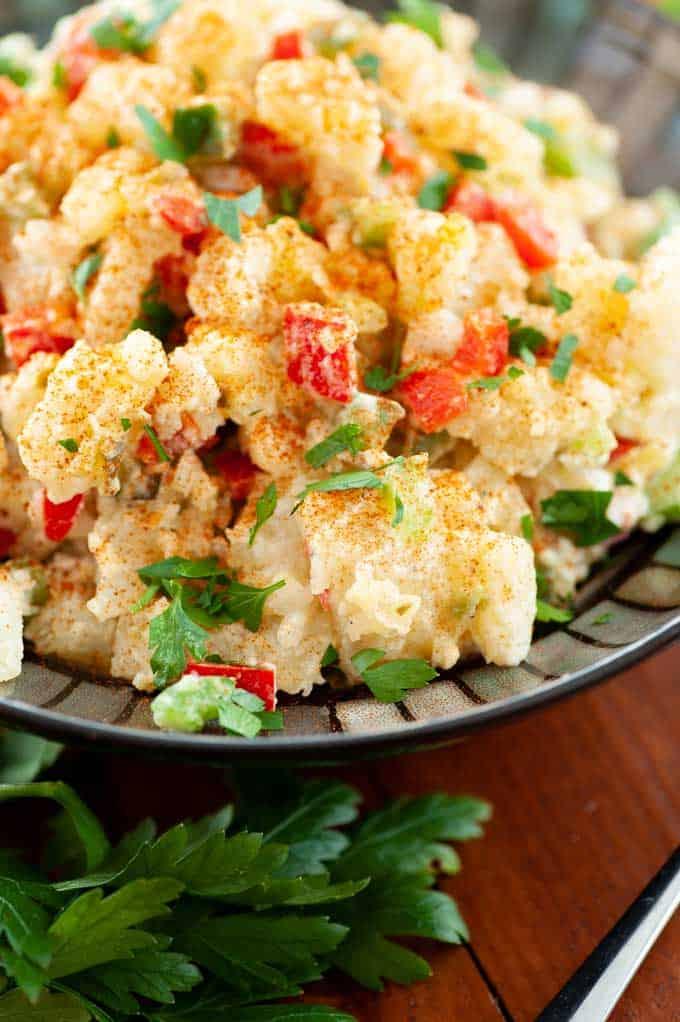 The best potato salad recipe image.