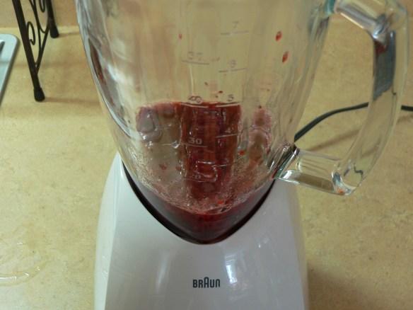 sauce in blender
