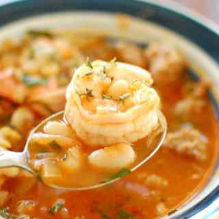 Sausage and Shrimp Stew. This recipe is awesome. You have to try it. | joeshealthymeals.com