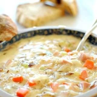 Creamy Ham Wild Rice Soup