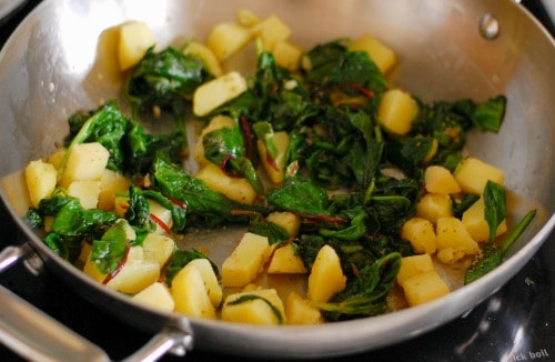 Potatoes and spinach. | joeshealthymeals.com