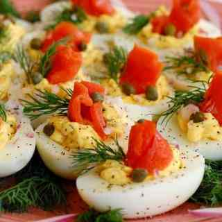 Lox Deviled Eggs