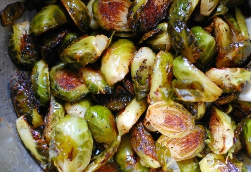 Roasted Brussels sprouts. | joeshealthymeals.com
