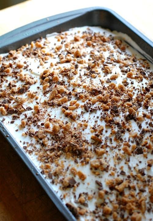 Chocolate Cake Whipped Cream Heath Bars