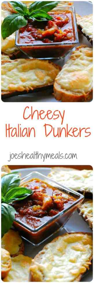 Cheesy Italian Dunkers. Great main dish or appetizer. Fast and simple. Have it with some fresh fruit on the side. | joeshealthymeals.com
