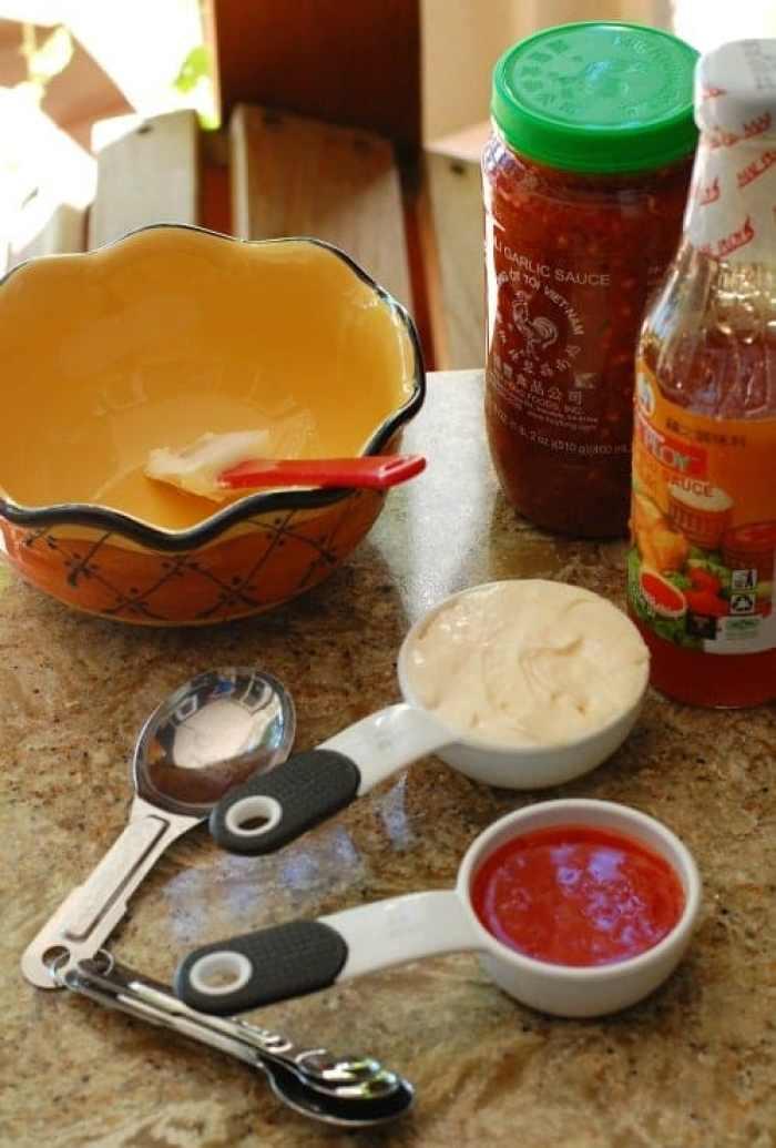 Sauce ingredients.   joeshealthymeals.com