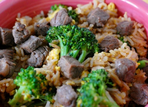 Classic beef fried rice recipe. Simple recipe to make delicious beef fried rice.   joeshealthymeals.com