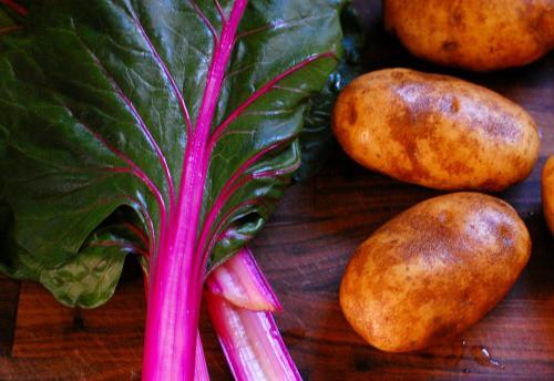 Swiss chard potatoes au gratin.   joeshealthymeals.com