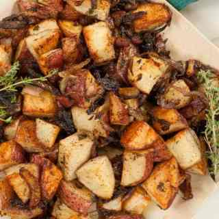 Roasted Red Potatoes with Onions and Bacon