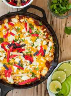 Easy chicken enchilada skillet.
